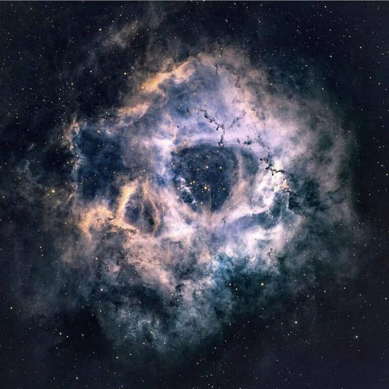 The Rosette Nebula, some say depicts a human skul